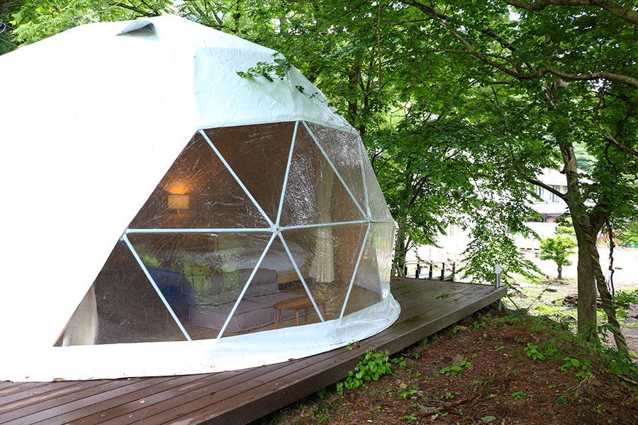 ドーム型グランピングテント